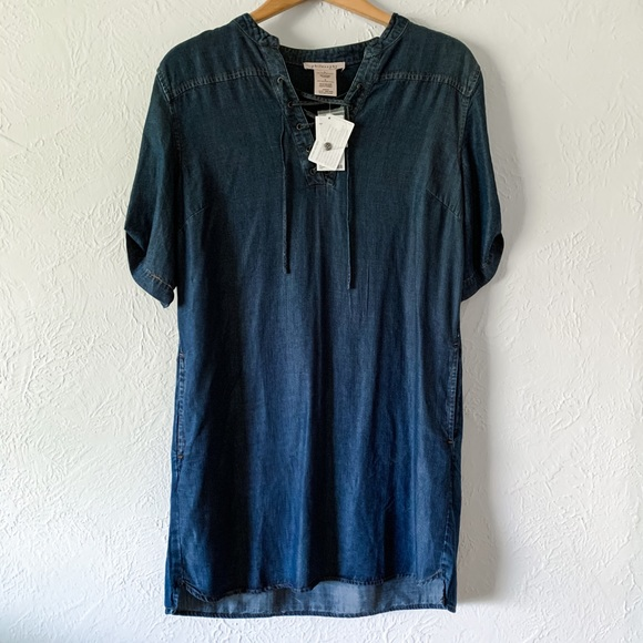 NWT Philosophy Tencel Lace Up Chambray Dress